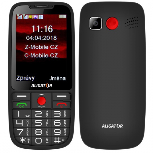 Mobilní telefon Aligator A890 Senior černý