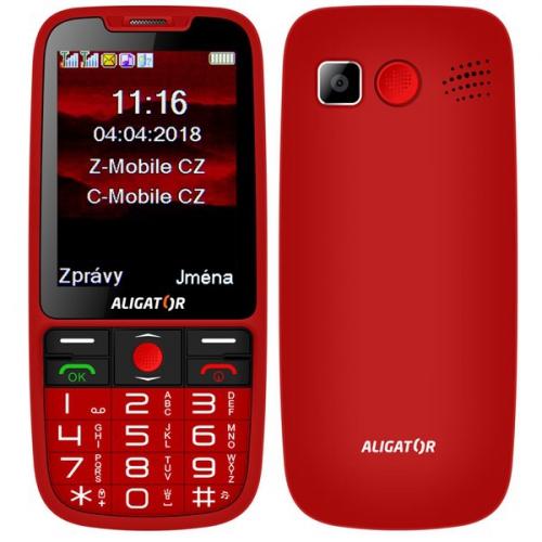 Mobilní telefon Aligator A890 Senior červený