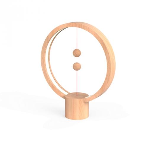 Powercube Heng Balance Round USB - Light Wood