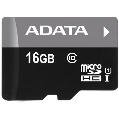 ADATA microSDHC karta 16GB UHS-I U1 + SD adaptér (R:45MB/W: 40MB)