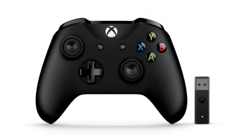 Gamepad Microsoft Xbox One Wireless + adapter pro Windows černý