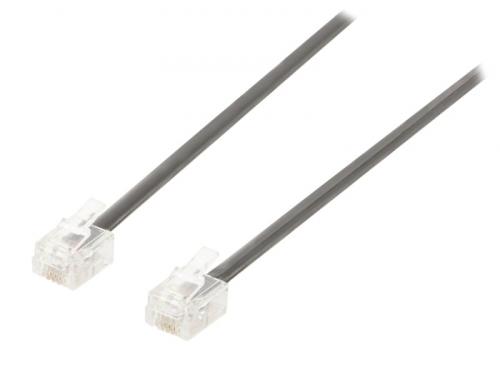 Fotografie Valueline VLTP90200B20 - Telefonní Kabel RJ11 (6P4C) zásuvka - RJ11 (6P4C) zásuv