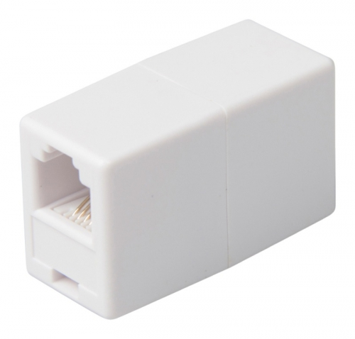Fotografie Valueline VLTP90920W - Telefonní adaptér RJ11 (6P4C) zásuvka - RJ11 (6P4C) zásuv
