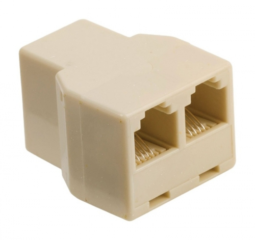 Fotografie Valueline VLTP90990I - Telefonní adaptér RJ11 (6P4C) zásuvka - 2x RJ11 (4/6) zás