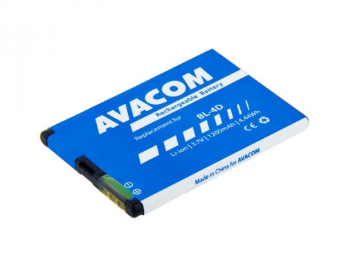 Avacom pro Nokia E7, N8 Li-Ion 3,7V 1200mAh (náhrada BL-4D)