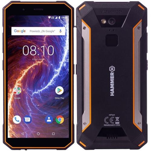 Mobilní telefon myPhone HAMMER ENERGY 18X9 LTE černý/oranžový