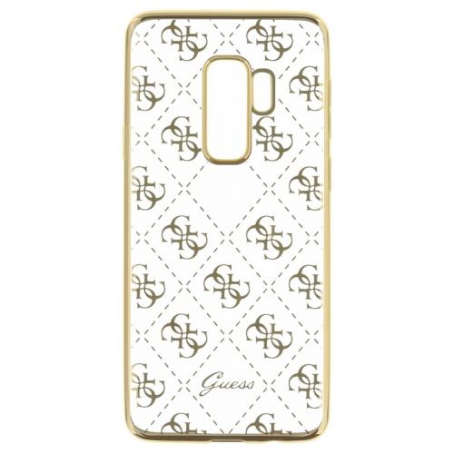 Guess 4G Case pro Samsung Galaxy S9 Plus zlatý/průhledný