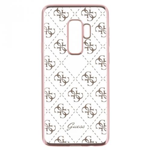 Guess 4G Case pro Samsung Galaxy S9 Plus růžový/průhledný