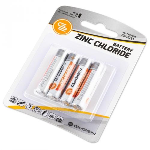 Baterie zinkochloridová GoGEN AAA, R03, blistr 4ks