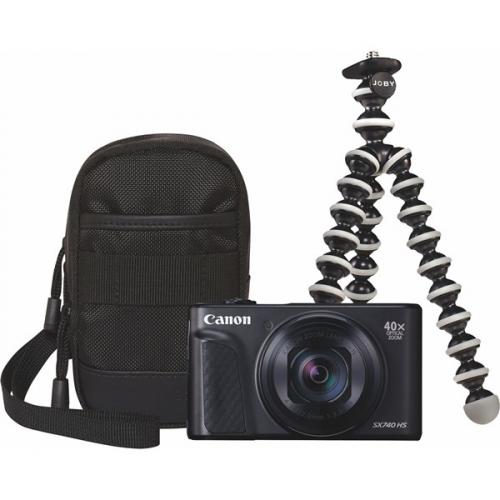 Digitální fotoaparát Canon PowerShot SX740 HS, TRAVEL KIT černý + DOPRAVA ZDARMA