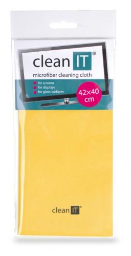 Utěrka Clean IT z mikrovlákna, velká žlutá