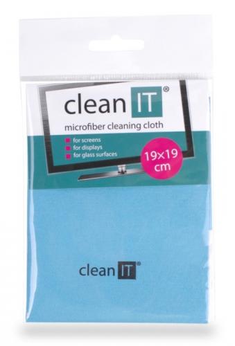 Utěrka Clean IT z mikrovlákna, malá světle modrá