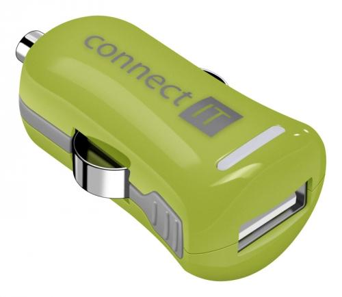 Connect IT InCarz COLORZ 1xUSB, 2,1A (V2) zelený