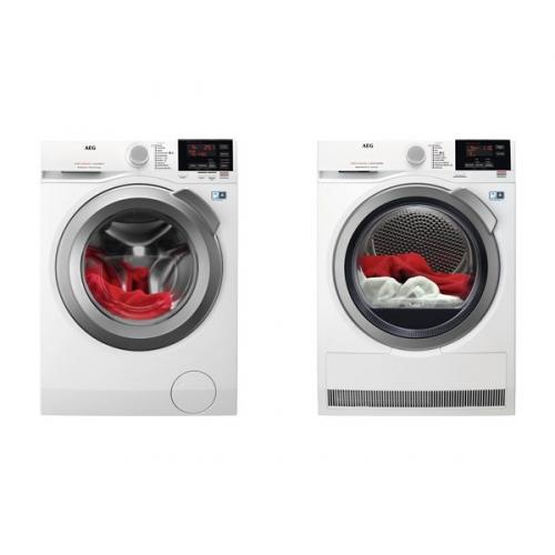 Set (Sušička prádla AEG AbsoluteCare® T8DBG49SC) + (Automatická pračka AEG ProSense™ L6FEG49SC)