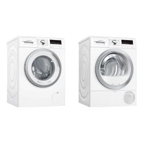 Set (Sušička prádla Bosch WTR85V90BY) + (Automatická pračka Bosch WAN28290BY)