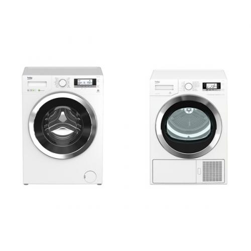 Set (Sušička prádla Beko EDE8635RX0) + (Automatická pračka Beko Superia WMY 81443 STB1)
