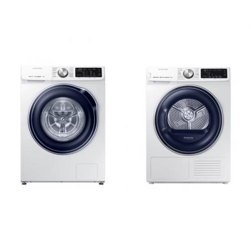 Set (Automatická pračka Samsung Quick Drive™ WW70M649OBW/ZE) + (Sušička prádla Samsung DV90N62632W/ZE)