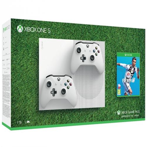 Microsoft 1 TB + 2 ovladače + FIFA 19 + dárky