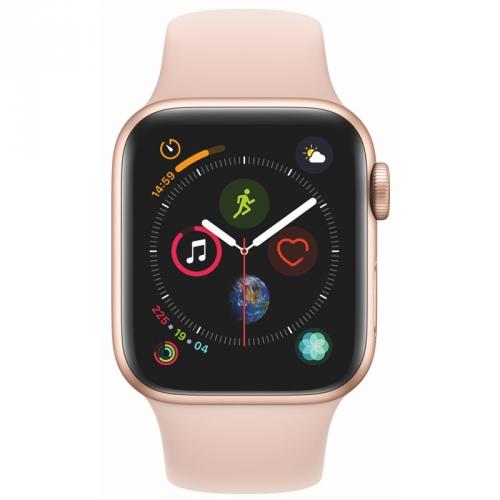Chytré hodinky Apple Watch Series 4 Watch Series 4 GPS 40mm pouzdro ze zlatého hliníku - pískově růžový sportovní řemínek CZ verze + DOPRAVA ZDARMA