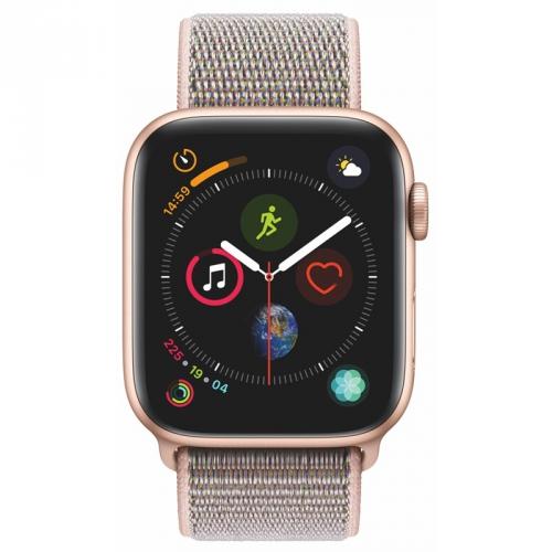 Chytré hodinky Apple Watch Series 4 Watch Series 4 GPS 44mm pouzdro ze zlatého hliníku - pískově růžový provlékací sportovní řemínek CZ verze + DOPRAV