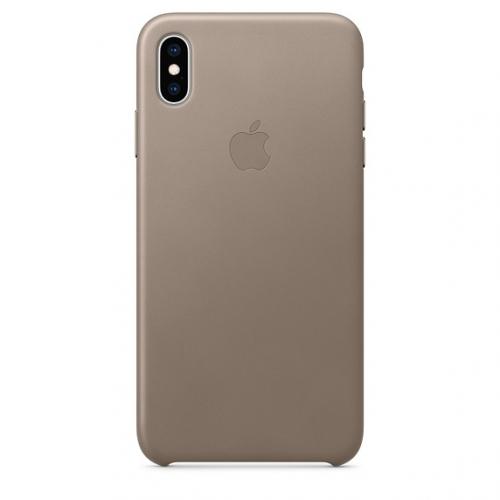 Kryt na mobil Apple Leather Case pro iPhone Xs - kouřový