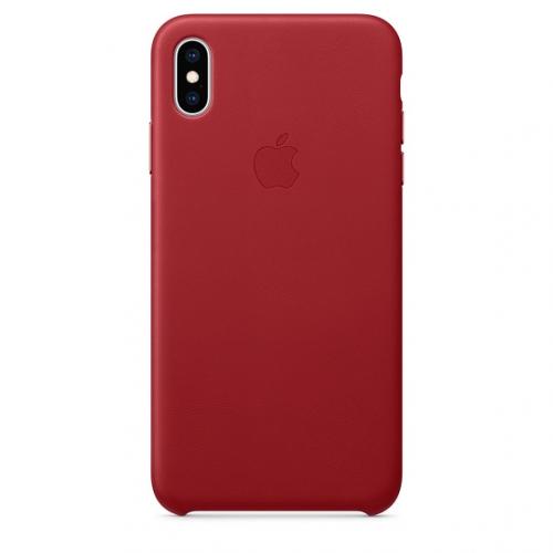 Kryt na mobil Apple Leather Case pro iPhone Xs Max - PRODUCTRED červený