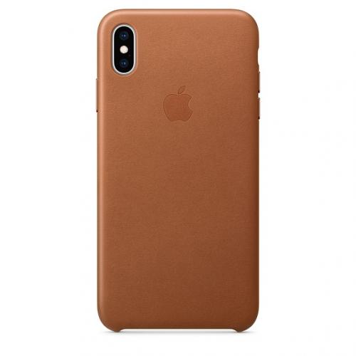 Kryt na mobil Apple Leather Case pro iPhone Xs Max - sedlově hnědý