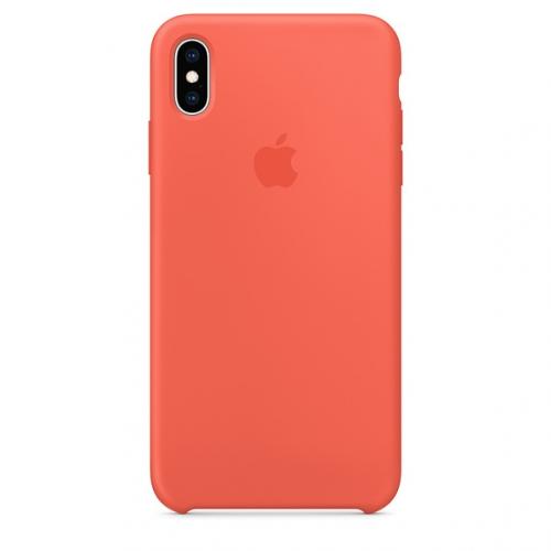 Kryt na mobil Apple Silicone Case pro iPhone Xs Max - nektarinkový