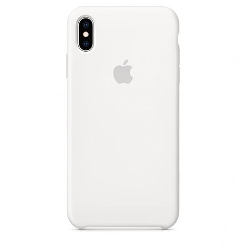 Kryt na mobil Apple Silicone Case pro iPhone Xs bílý