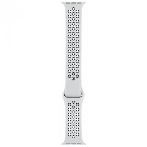 Řemínek Apple Watch 44mm platinový/černý Nike sportovní - S/M a M/L