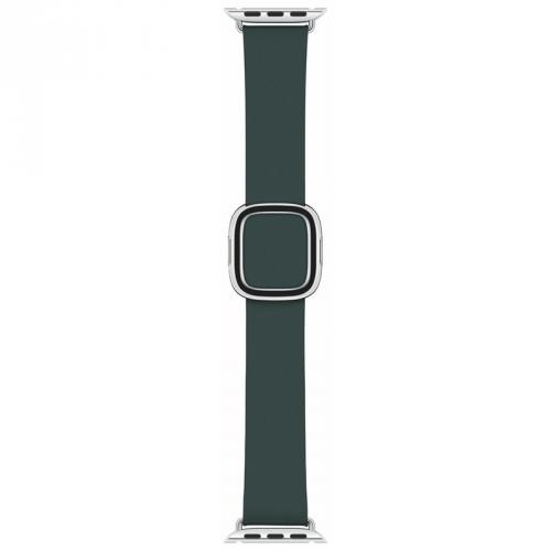 Řemínek Apple Watch 40mm piniově zelený s moderní přezkou - malý