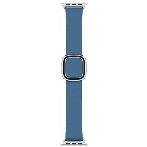 Řemínek Apple Watch 40mm modrošedý s moderní přezkou - střední + DOPRAVA ZDARMA