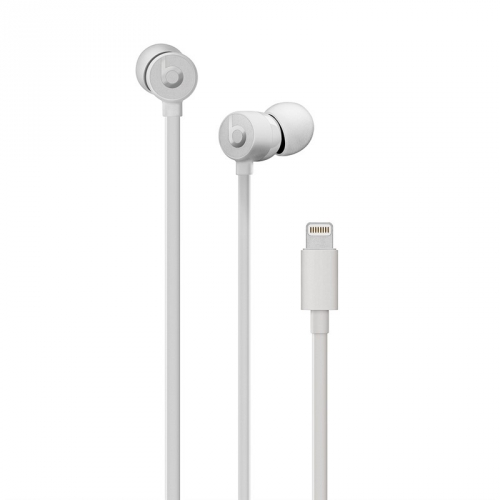 Sluchátka Beats urBeats3 s Lightning konektorem - saténově stříbrná