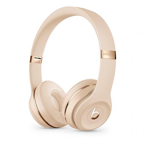 Sluchátka Beats Solo3 Wireless On-Ear - saténově zlatá
