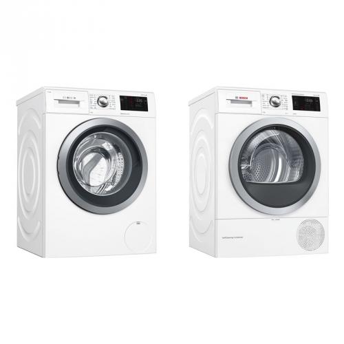 Set (Pračka Bosch WAT286H1BY) + (Sušička prádla Bosch WTW876WBY)