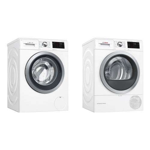 Set (Sušička prádla Bosch WTWH761BY) + (Automatická pračka Bosch WAT286H1BY)