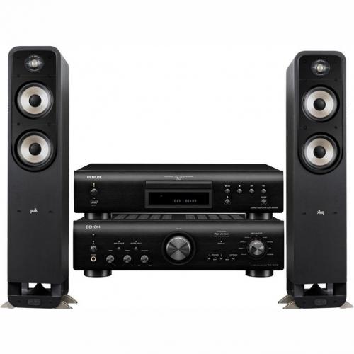Set (Zesilovač Denon PMA-800NE) + (CD přehrávač Denon DCD-800NE) + (2x Reproduktory Polk Signature S55E, 1ks)