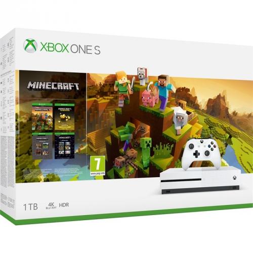 Microsoft Xbox One S 1 TB + Minecraft Holiday + dárek