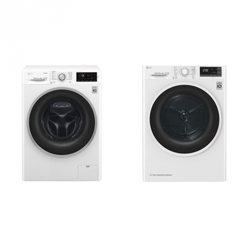 Set (Sušička prádla LG RC82EU2AV4W) + (Automatická pračka LG F84J6TY1W)