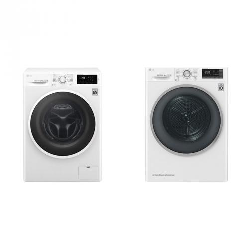 Set (Automatická pračka LG F72J6QN0W) + (Sušička prádla LG RC81U2AV3W)