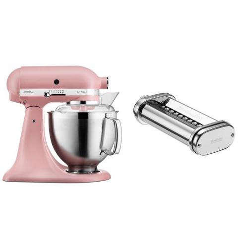 Set (Přísl. k robotům - nástavec na těstoviny KitchenAid 5KSMPRA) + (Kuchyňský robot KitchenAid Artisan 5KSM185PSEDR)