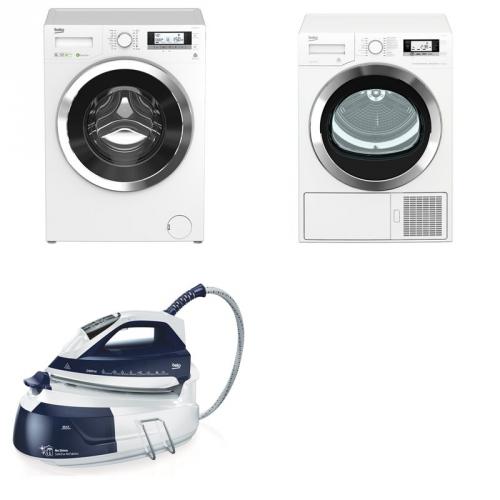 Set (Sušička prádla Beko EDE8635RX0) + (Automatická pračka Beko Superia WMY 81443 STB1) + (Beko)