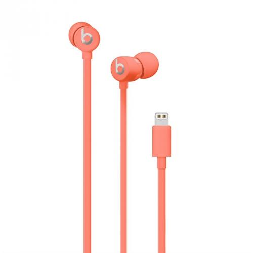 Sluchátka Beats urBeats3 s Lightning konektorem - korálově červená