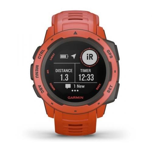 GPS hodinky Garmin Instinct Red Optic