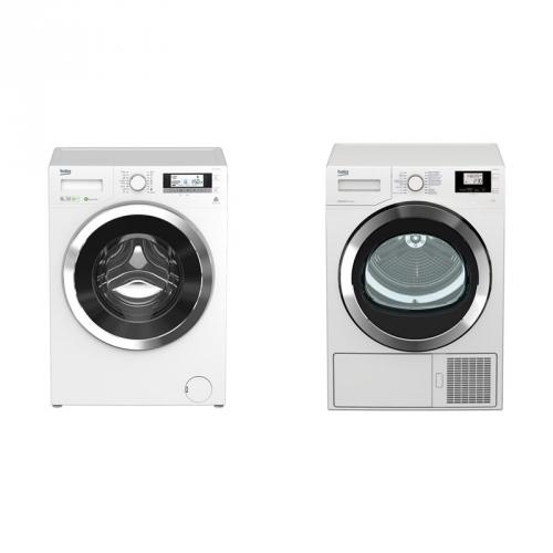 Set (Sušička prádla Beko DS7534CSRX1) + (Automatická pračka Beko Superia WMY 81443 STB1)