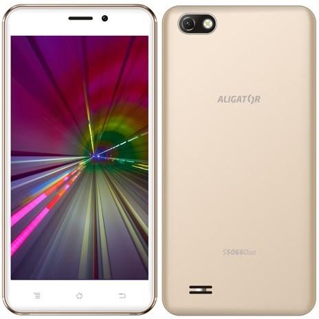 Mobilní telefon Aligator S5066 zlatý