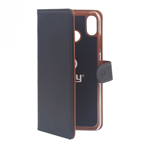 Pouzdro na mobil flipové Celly Wally pro Xiaomi Mi 8 černé