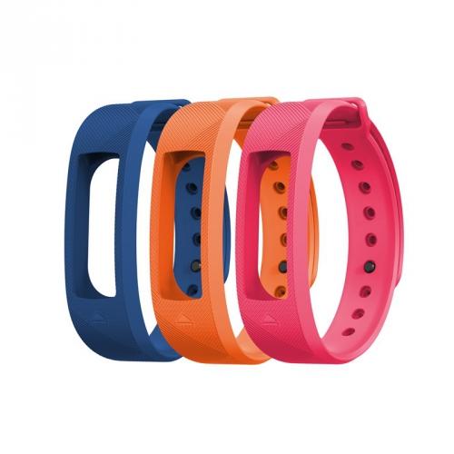 Výměnný pásek Evolveo pro FitBand B2 - 1x modrá, 1x oranžová a 1x růžová