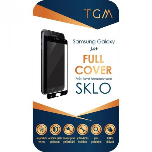 Ochranné sklo TGM Full Cover na Samsung Galaxy J4+ černé