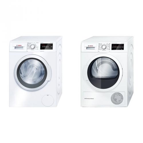Set (Sušička prádla Bosch WTW85460BY) + (Automatická pračka Bosch WAT24360BY)